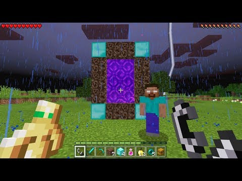 Making a PORTAL to HEROBRINE'S DIMENSION in Minecraft Pocket Edition! (Herobrine Survival Ep. 2)