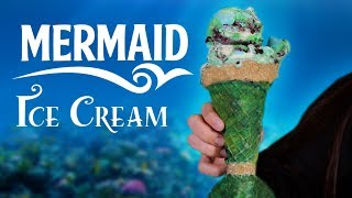 diy mermaid ice cream cone