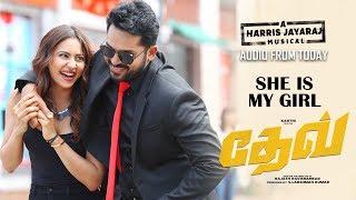 Dev - She is My Girl Lyric Video (Tamil) | Karthi | Rakulpreet | Harris Jayaraj