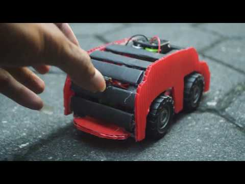 How To Make a Cars With Manila Paper and 1300mAh Battery [DIY]