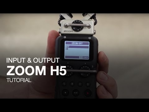 Zoom H5: Input and Output tutorial