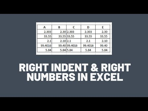 Right Align & Indent Numbers in Excel - Excel Tips