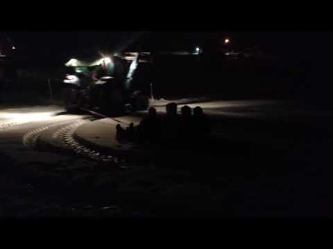 Tractor sledding in West Georgia