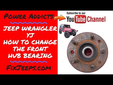 Jeep Wrangler YJ - How to change the Front wheel bearing