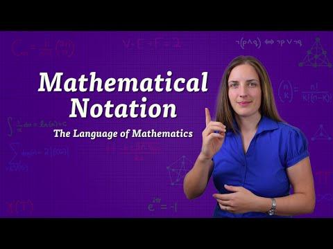 Mathematical Notation - The Language of Mathematics