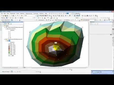 how to create contour from point shape file