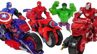 Download Marvel Avnegers Mashers Iron Man, Spider-Man transforming motocycle with Hulk! Go! #DuDuPopTOY Video