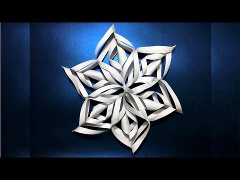 DIY | 3D Paper Snowflake | How to make a 3D Paper Snowflake