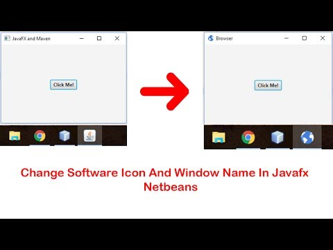 JavaFX Set App Icon And Window Name Easiily