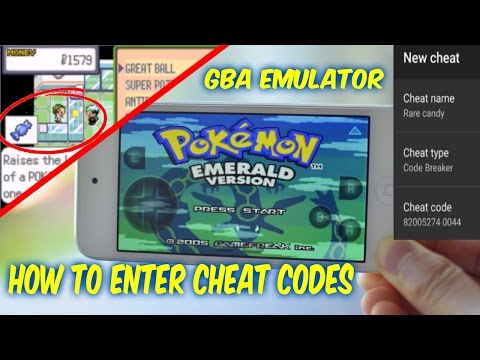 How To Enter Cheat Codes Into GBA Emulator Pokemon Emerald