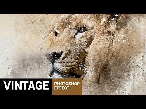 Perfectum - Vintage Watercolor Photoshop Action Tutorial