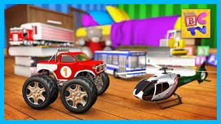Learning Vehicles Names and Sounds for Kids Part 2 | Trucks, Helicopter and More