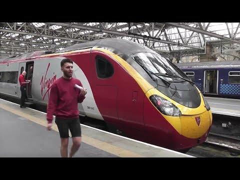 Full Train Journey: Virgin Trains Glasgow Central - Birmingham New Street Virgin Pendolino