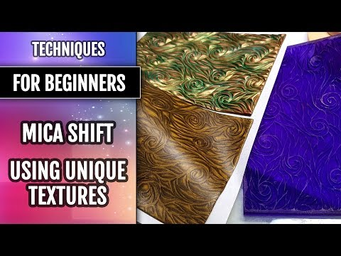 Part 1 | Techniques for beginners: Mica Shift - using Unique Textures. Polymer clay.