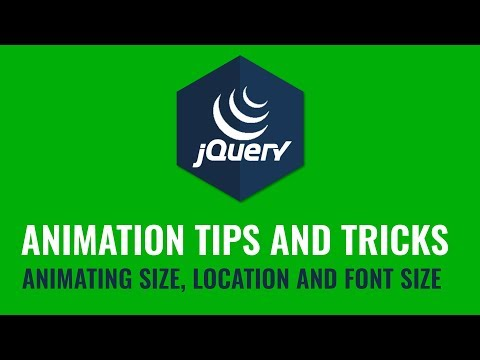 Animating Size, Location and Font Size with jquery