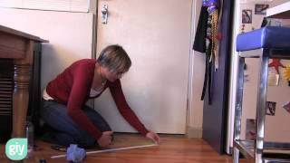How to seal the gap at the bottom of a door.