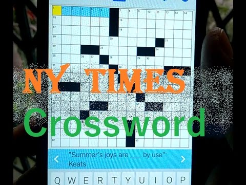 Play The Crossword From Today's Newspaper !!