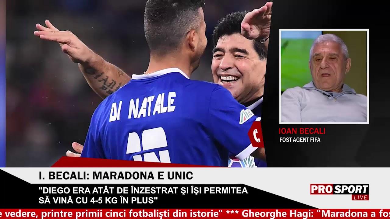 "Giovanni Becali: ""Maradona m-a impins cand i-am adus aminte de meciul Romaniei cu Argentina"