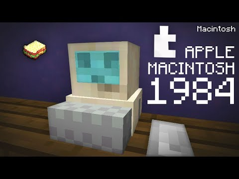 Minecraft | How to make a Working Apple Macintosh **NOT CLICKBAIT**