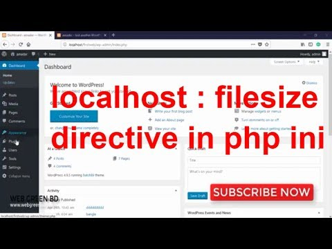 How to the uploaded file exceeds the upload max filesize directive in php ini | wordpress plugin