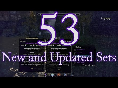[ESO] One Tamriel PTS - All New Gear Sets & Weapon Ultimates