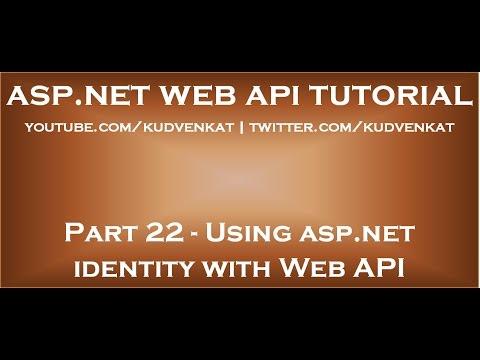 Using asp net identity with Web API