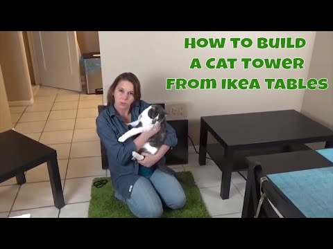 How to build a cat tower - From Ikea coffee tables