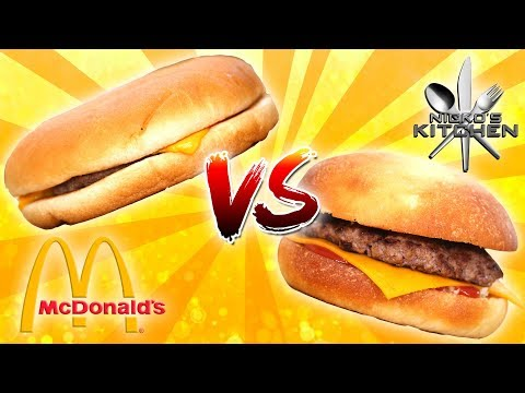 McDONALDS CHEESEBURGER vs HOMEMADE - Get me a Happy Meal!