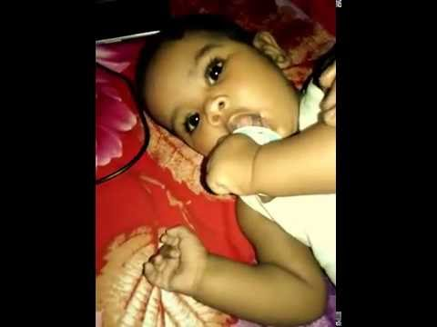 Cute Baby play with Nipple