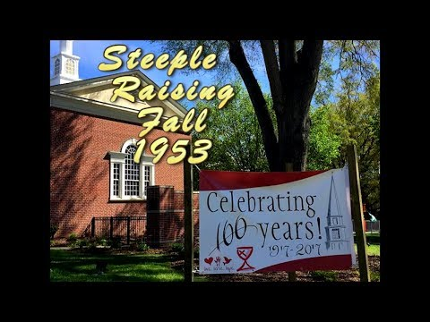 Steeple Raising Fall 1953