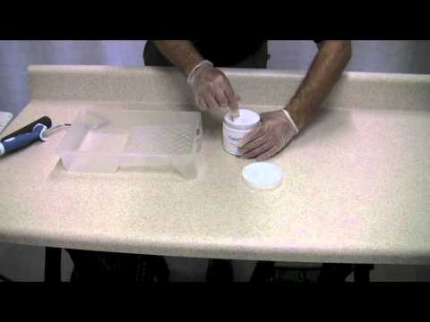 Can I paint Formica Countertops? - Intro and Base Coat for Faux Granite