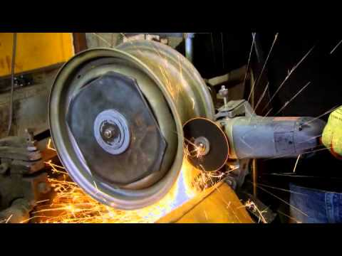 See how steel rims are widened