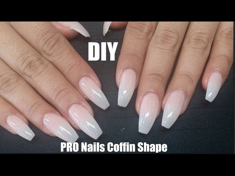 DIY Professional Coffin Nails $9 | LONG LASTING! How To Coffin Shape Nails