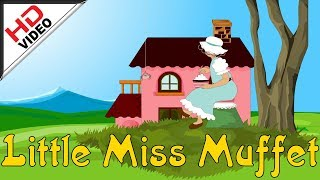 Little Miss Muffet Nursery Rhymes - English Animation Video sung by Bombay Saradha