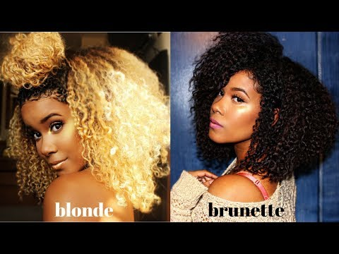 Blonde To Brunette!! How To Color Your Natural Hair