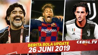 Neymar Rela Digaji Rendah demi Barca 🔴 Rabiot Resmi ke Juve 🔴Maradona Bantu Messi Asah Freekick