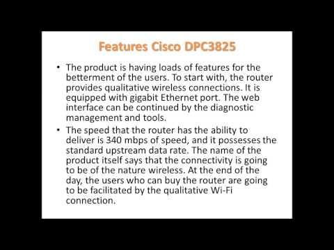 Cisco DPC3825  Wireless Router