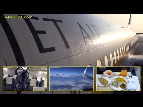Jet Airways Boeing 737-800 Business Class Kathmandu to New Delhi [AirClips full flight series]