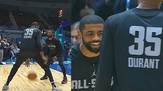 Kevin Durant & Kyrie Irving Play One-on-One But End Up Laughing At Each Other!