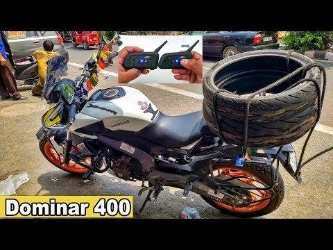 Dominar 400 Tyre Change | New Ride New Destination | V6 Bluetooth Intercom |