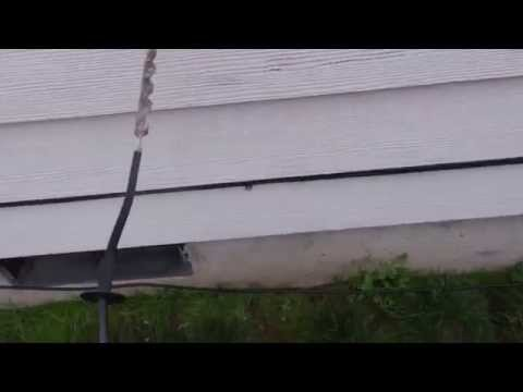 Satellite TV installing, running coax, installing outlets