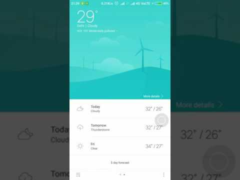 How to Remove Weather Info from Notification Bar in Redmi / MIUI 8