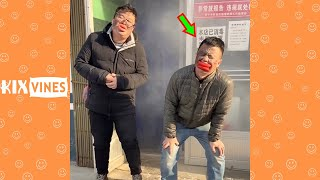 Funny videos 2021 ✦ Funny pranks try not to laugh challenge P184