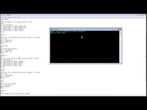 How to make a game on computer using notepad