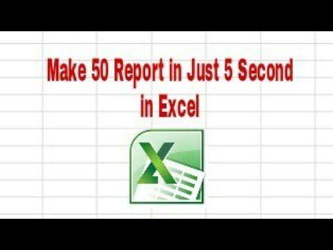 How to Make 50 Report in 5 Second in Excel