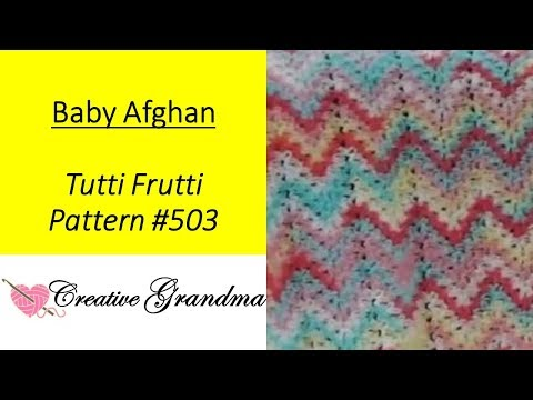 Tutti Frutti Crocheted Ripple Baby Afghan - So Easy.