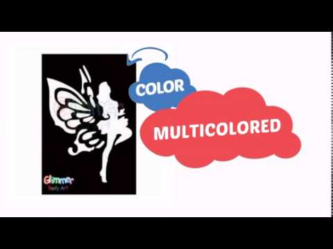 Glimmer Body Art Glitter Tattoo Stencils - Dancing Fairy (5/pack) - ClownAntics.com