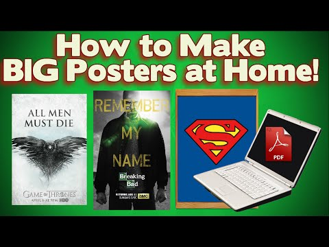 How to Print Large Posters with ANY PRINTER! *Super Easy!*