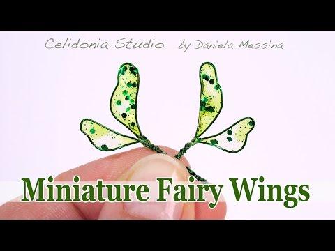 Simple Miniature Fairy Wings Tutorial DIY