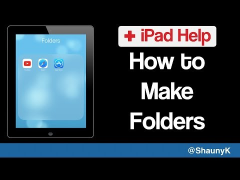 iPad Help - How to put apps in Folders